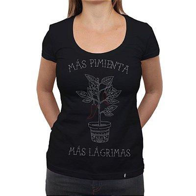 Más Pimienta - Camiseta Clássica Feminina