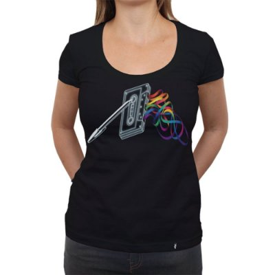 Mixtape - Dark Side of the Tape - Camiseta Clássica Feminina