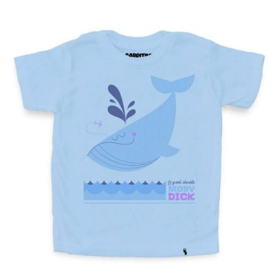 Moby Dick - Camiseta Clássica Infantil
