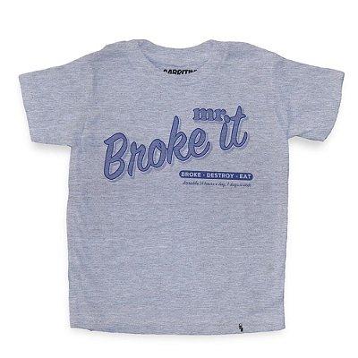 Mr. Broke It - Camiseta Clássica Infantil