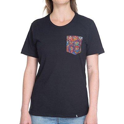 Multidão Colorida - Camiseta Clássica com Bolso