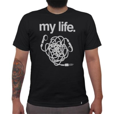 My Life Headphone - Camiseta Clássica Masculina