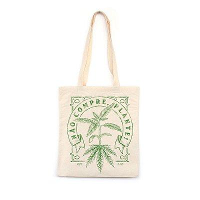Não Compre Plante - Bolsa de Lona-Off White-U