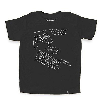 Não Posso Controlar Tudo #cestabasica - Camiseta Clássica Infantil