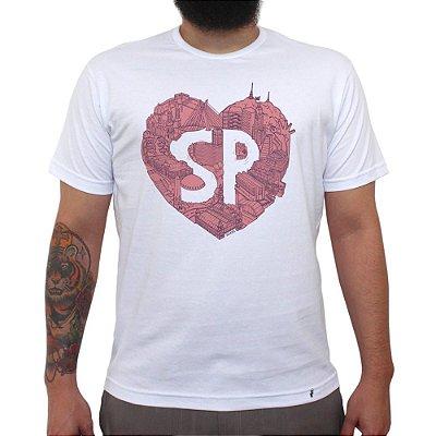 No Meu Coração - Camiseta Clássica Masculina