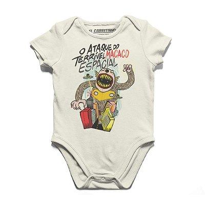 O Ataque do Terrível Macaco Espacial - Body Infantil