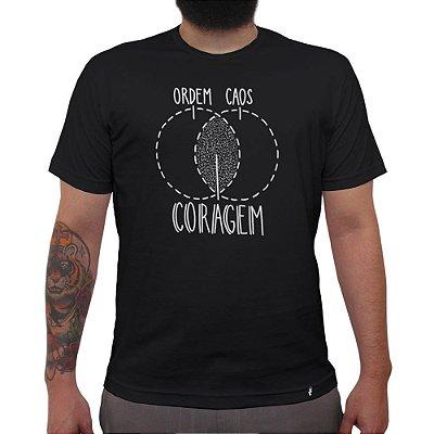 Ordem, Caos, Coragem - Camiseta Clássica Masculina