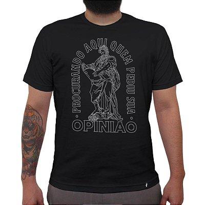 Procurando Aqui - Camiseta Clássica Masculina
