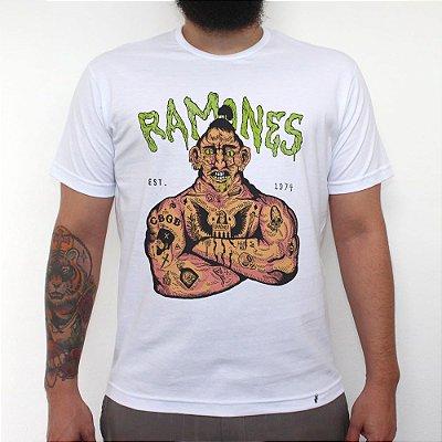 Ramones 74 - Camiseta Clássica Masculina