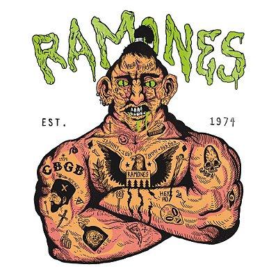 Ramones 74 - Camiseta Raglan Manga 3/4 Infantil