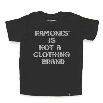 Ramones Is Not a Clothing Brand - Camiseta Clássica Infantil