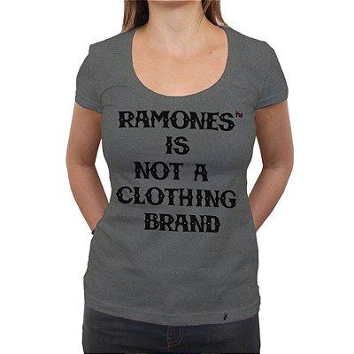 Ramones Is Not a Clothing Brand - Camiseta Clássica Premium Feminina