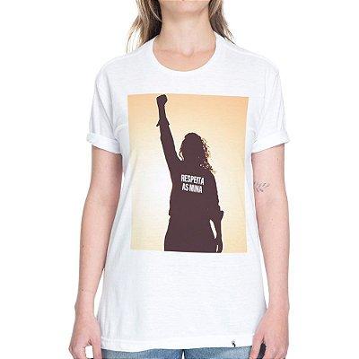 Respeita as Mina - Camiseta Basicona Unissex