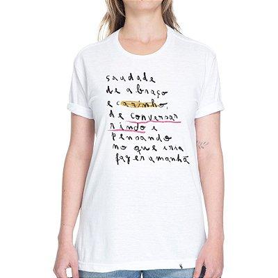 Saudade de Abraço e Carinho #cestabasica - Camiseta Basicona Unissex