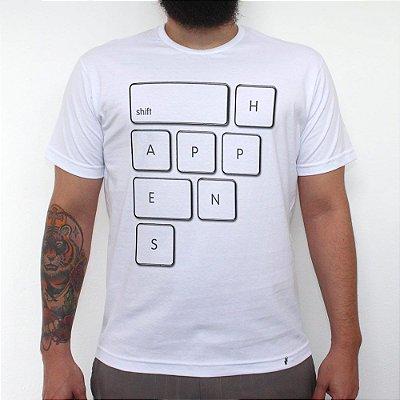 Shift Happens - Camiseta Clássica Masculina