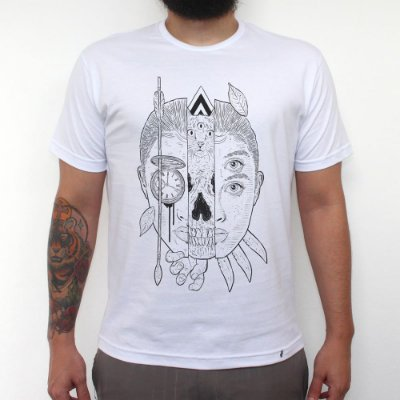 Sobre o Tempo - Camiseta Clássica Masculina