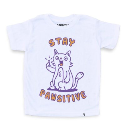 Stay Pawsitive - Camiseta Clássica Infantil