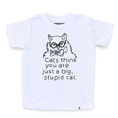 Stupid Cat - Camiseta Clássica Infantil