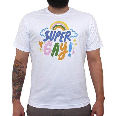 Super Gay - Camiseta Clássica Masculina