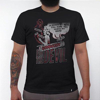 Sympathy For The Devil - Camiseta Clássica Masculina