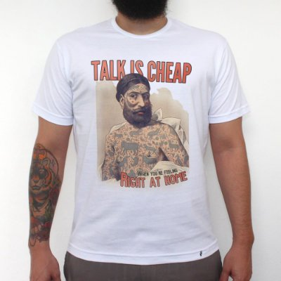 Talk is Cheap - Camiseta Clássica Masculina