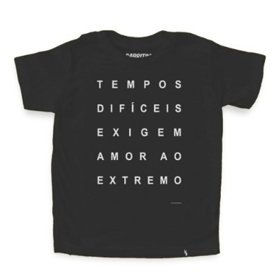 Tempos Difíceis - Camiseta Clássica Infantil
