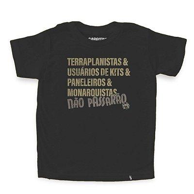 Terraplanistas & Usuários de Kits - Camiseta Clássica Infantil