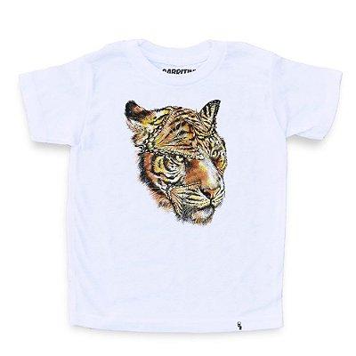 Tigre e Borboleta - Camiseta Clássica Infantil