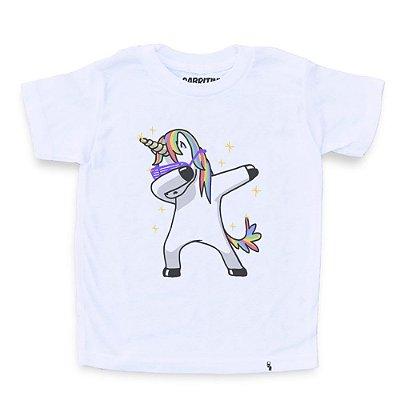 Unicorn Dabbing - Camiseta Clássica Infantil