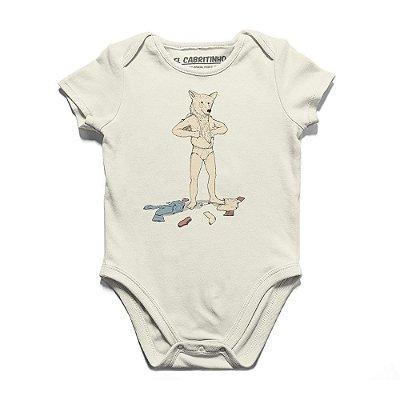 Urso em Pele de Homem - Body Infantil