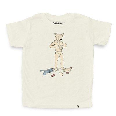 Urso em Pele de Homem - Camiseta Clássica Infantil