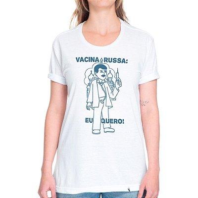 Vacina Russa - Camiseta Basicona Unissex