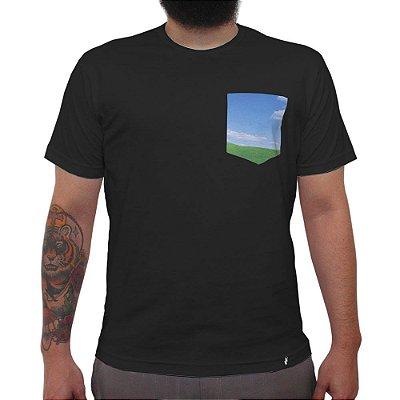 Windows - Camiseta Clássica com Bolso Masculina