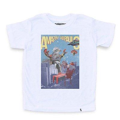 yoshipi battles the bird robots - Camiseta Clássica Infantil