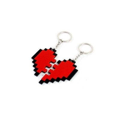 Chaveiros 8 Bits - Nosso Coração