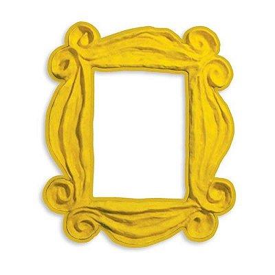 Adesivo para Olho Mágico - Moldura Amarela Friends