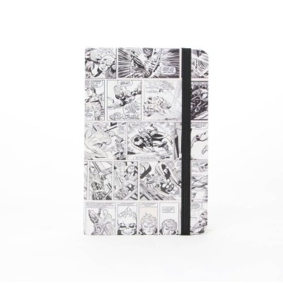 Caderno de Anotações HQ Preto e Branco - Marvel