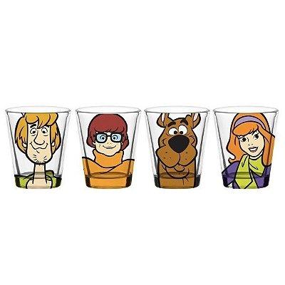 Set c/ 4 Copos Dose de Vidro - Scooby Doo