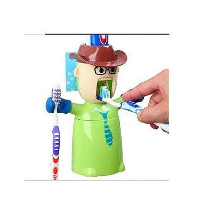 Cowboy Dispenser de Pasta de Dente - Verde