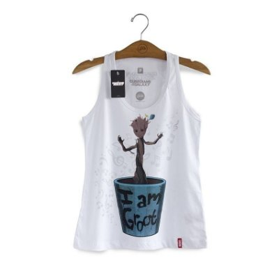 Camiseta Feminina Guardiões da Galáxia Baby Groot Marvel