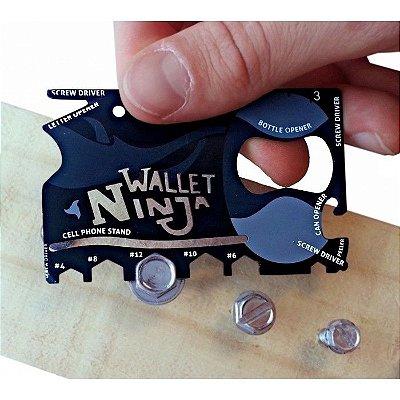 Carteira Ninja - Cartão Multifuncional 18 em 1