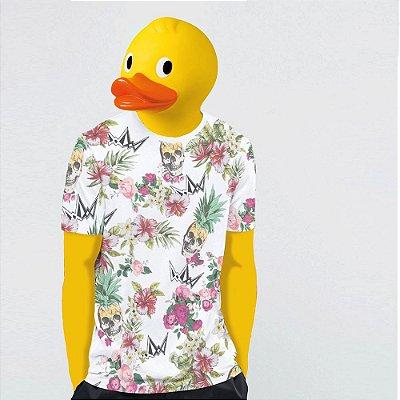 Camiseta, Floral pineapple skull
