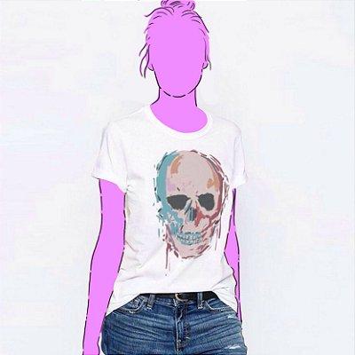 Camiseta Feminina, Caveira Pop