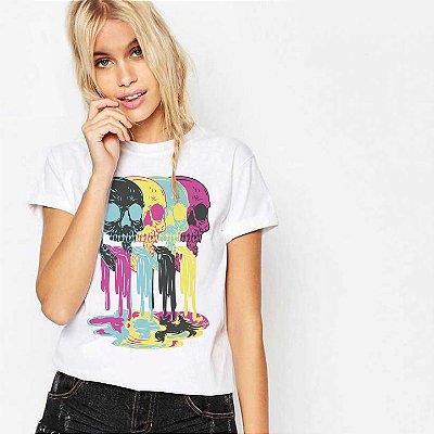 Camiseta Feminina, Skullsss