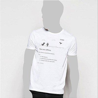 Camiseta, You are offline, dino