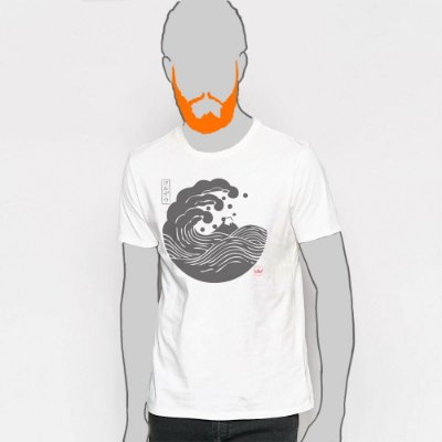 Camiseta,  Big Wave Kamon Cordel In Japan Hatsushika Hokusai