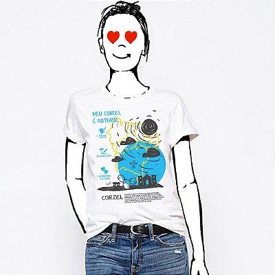 Camiseta Feminina,  Cordel Natural