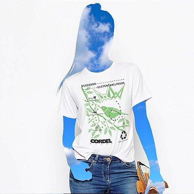 Camiseta Feminina, Buscando Sustentabilidade