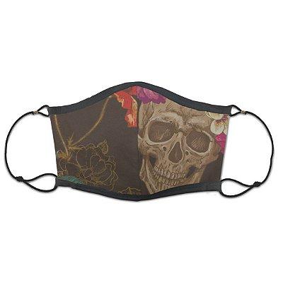 Máscara Caveira Floral