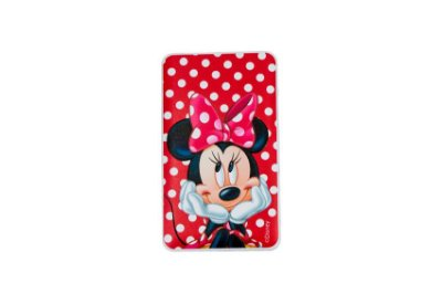 CARREGADOR PORTÁTIL CELULAR USB MINNIE RED 2200mah COM LATERNA